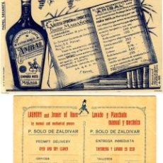 Postales: DOS POSTALES PUBLICITARIAS DE FIRMAS COMERCIALES DE MALAGA-LOS REVERSOS SON LISOS .. Lote 269192873