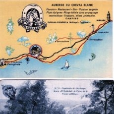 Postales: DOS TARJETAS POSTALES PUBLICITARIAS-ALBERGUE EL CABALLO BLANCO(MALAGA)Y CORTES DE LA FRONTERA-MALAGA. Lote 269196148