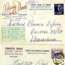 Postales: TRES TARJETAS PUBLICITARIAS (LIBRERIA DENIS-MALAGA)-VER FOTOSADICIONALES DE LOS REVERSOS .. Lote 269335948