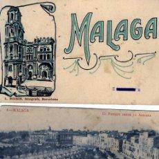 Postales: TRES TARJETAS POSTALES CON PUBLICIDAD DE MALAGA-VER FOTO ADICIONAL DE LOS REVERSOS .. Lote 269336533
