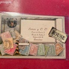 Postales: ANTIGUA POSTAL PUBLICITÀRIA COMAS Y C. C. PASEO DE GRACIA 2 BARCELONA EXPOSICIONS DE ABRIGOS DE BURB. Lote 269936548