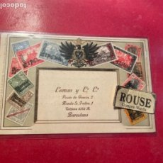 Postales: ANTIGUA POSTAL PUBLICITÀRIA COMAS Y C. C. PASEO DE GRACIA 2 BARCELONA EXPOSICIONS DE ABRIGOS DE BURB. Lote 269936783