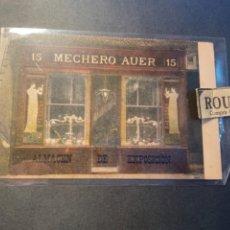 Postales: BARCELONA ANTIGUA POSTAL MECHERO AUER ALMACÉN DE EXPOSICIÓN C. BAILEN - BARCELONA. Lote 270872248