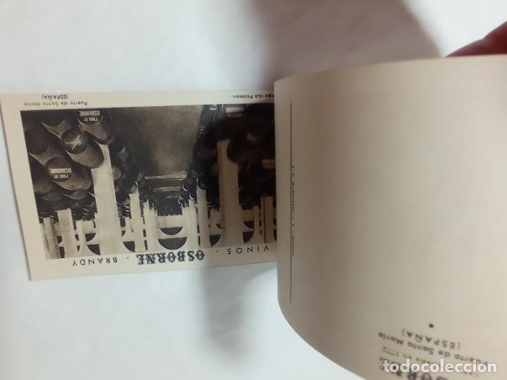 Postales: librillo de 10 postales Osborne vinos y brandy original no copia. Ref.auto - Foto 4 - 276822143