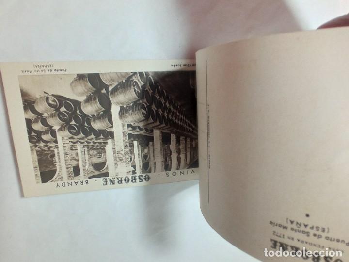 Postales: librillo de 10 postales Osborne vinos y brandy original no copia. Ref.auto - Foto 5 - 276822143
