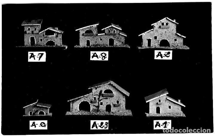 BELÉN - MODELOS DE CASAS DE CORCHO - POSTAL DE CATÁLOGO - 143X94 MM - ÚNICA (Postales - Postales Temáticas - Publicitarias)