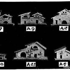 Postales: BELÉN - MODELOS DE CASAS DE CORCHO - POSTAL DE CATÁLOGO - 143X94 MM - ÚNICA. Lote 276972558
