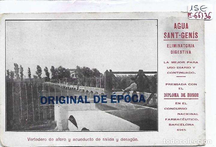 (PS-66136)POSTAL PUBLICITARIA AGUA SANT-GENIS (Postales - Postales Temáticas - Publicitarias)
