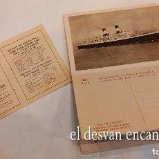 Postales: NAVIGAZIONE GENERALE ITALIANA. LIBRETO CON POSTALES. PUBLICITARIO PARA EXPOSICION BARCELONA 1929. Lote 277144198