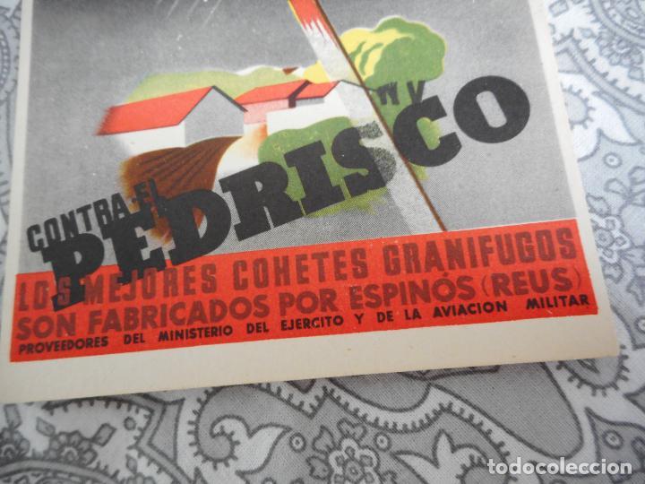 Postales: ANTIGUA POSTAL PUBLICITARIA.PEDRISCO.COHETES GRANIFUGOS.ESPIÑOS.REUS TARRAGONA. - Foto 2 - 277196318