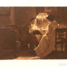 Postales: ANTIGUA POSTAL PUBLICIDAD CHOCOLATE JUNCOSA ESTILO MODERNISTA AÑOS 1920 1930. Lote 277554903