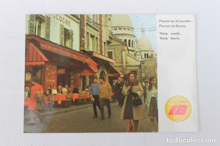 POSTAL IBERIA LINEAS AEREAS DE ESPAÑA PARIS 1970 (Postales - Postales Temáticas - Publicitarias)