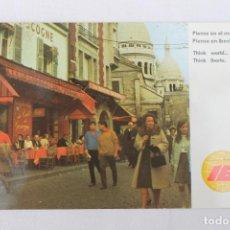 Postales: POSTAL IBERIA LINEAS AEREAS DE ESPAÑA PARIS 1970. Lote 278673783