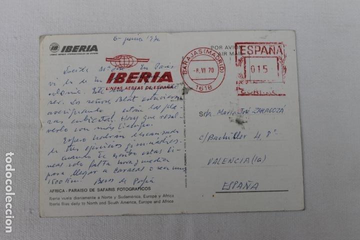 Postales: POSTAL IBERIA LINEAS AEREAS DE ESPAÑA AFRICA PARAISO DE SAFARIS FOTOGRAFICOS 1970 - Foto 2 - 278673873