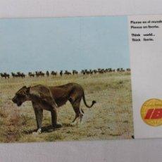 Postales: POSTAL IBERIA LINEAS AEREAS DE ESPAÑA AFRICA PARAISO DE SAFARIS FOTOGRAFICOS 1970. Lote 278673873