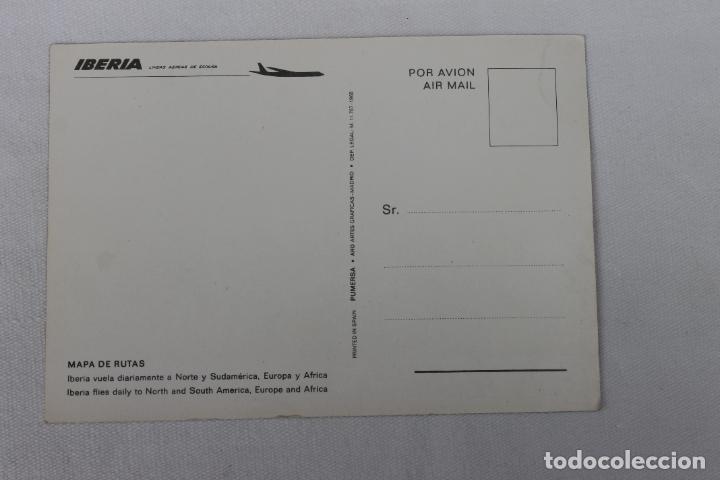 Postales: POSTAL IBERIA LINEAS AEREAS DE ESPAÑA MAPA DE RUTAS 1968 Nº2 - Foto 2 - 278674518