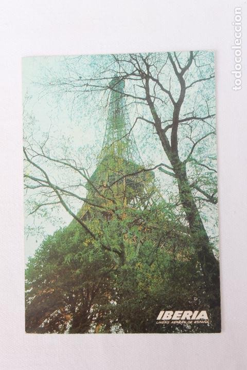 POSTAL IBERIA LINEAS AEREAS DE ESPAÑA PARIS TORRE EIFFEL 1968 (Postales - Postales Temáticas - Publicitarias)