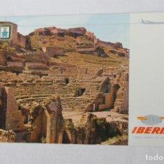 Postales: POSTAL IBERIA LINEAS AEREAS DE ESPAÑA SAGUNTO TEATRO ROMANO. Lote 278674703