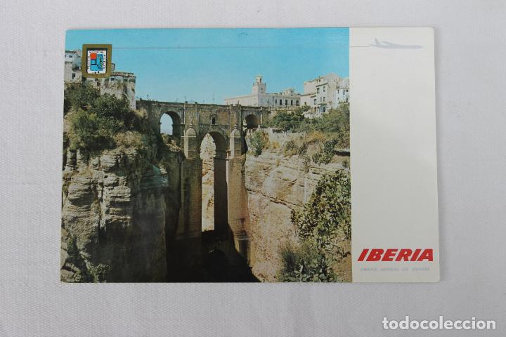 POSTAL IBERIA LINEAS AEREAS DE ESPAÑA RONDA EL TAJO EL PUENTE NUEVO 1967 (Postales - Postales Temáticas - Publicitarias)