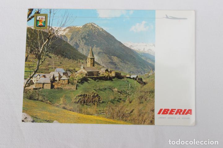POSTAL IBERIA LINEAS AEREAS DE ESPAÑA PIRINEO CATALAN VALLE DE ARAN 1967 (Postales - Postales Temáticas - Publicitarias)