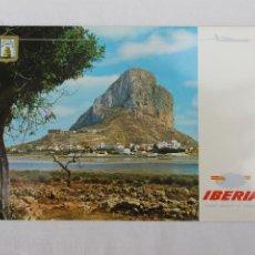 Postales: POSTAL IBERIA LINEAS AEREAS DE ESPAÑA CALPE PEÑON Y PARADERO DE IFACH. Lote 278675168