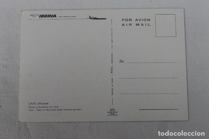 Postales: POSTAL IBERIA LINEAS AEREAS DE ESPAÑA CALPE ALICANTE PEÑON - Foto 2 - 278675613