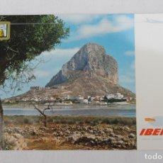 Postales: POSTAL IBERIA LINEAS AEREAS DE ESPAÑA CALPE ALICANTE PEÑON. Lote 278675613