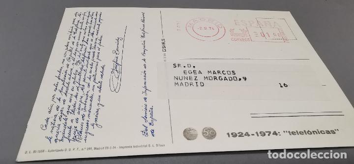 Postales: POSTAL TELEFONICA - 1924-1974 VENTA ACCIONES - CIRCULADA - Foto 2 - 279523058
