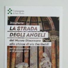 Postales: POSTAL ITINERARIO LA STRADA DEGLI ANGELI TORINO. Lote 288124293