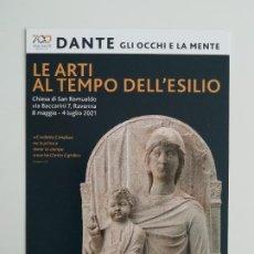 Postales: POSTAL DANTI GLI OCCHI E LA MENTE LE ARTI AL TEMPO DELL'ESILIO RAVENNA ITALIA. Lote 288124348
