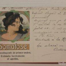 Postales: POSTAL SOMATOSE, RECONSTITUYENTE DE PRIMER ORDEN, 1906. Lote 288171148