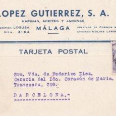 Postales: MALAGA, POSTAL COMERCIAL DE LOPEZ GUTIERREZ S.A. VER REVERSO. Lote 288207823