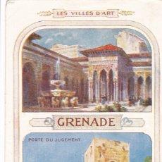 Postales: GRANADA, POSTAL PUBLICIDAD DE CHOCOLATE LOMBART PARIS. VER REVERSO. Lote 288211663