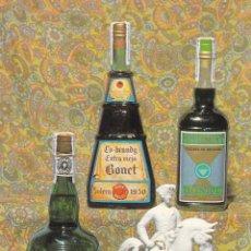 Postales: GIRONA, SAN FELIU DE GUIXOLS. POSTAL PUBLICIDAD DESTILERIAS RAMON BONET S.A. AÑO 1970. SIN CIRCULAR. Lote 288219028