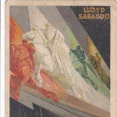 Postales: POSTAL PUBLICIDAD DE LLOYD SABAUDO BARCOS DE TRANSPORTE. VER REVERSO. Lote 288221033
