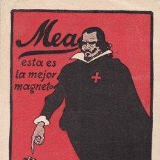 Postales: BARCELONA, POSTAL PUBLICIDAD DE MAGNETOS Y BUJIAS MEA, UNIONWERK MEA STUTTGART. VER REVERSO. Lote 288221413