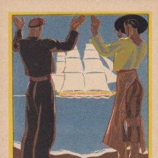 Postales: BARCELONA SEVILLA, POSTAL PUBLICIDAD EXPOSICION GENERAL ESPAÑOLA AÑO 1929. ED. MATEU. VER REVERSO. Lote 288223633