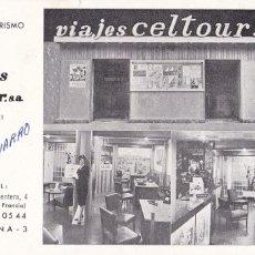 Postales: BARCELONA, POSTAL PUBLICIDAD DE VIAJES CELTOUR S.A. SIN CIRCULAR. Lote 288223868