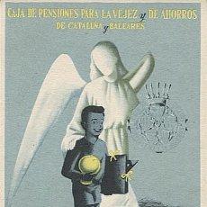 Postales: X126205 CATALUNYA Y BALEARES PUBLICIDAD BANCO BANCOS CAJA DE PENSIONES PARA LA VEJEZ Y DE AHORROS. Lote 288951658