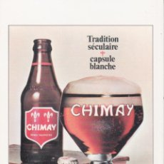 Postais: POSTAL PUBLICITARIA DE CERVEZA CHIMAY – ED.CHIMAY – S/C. Lote 289324228