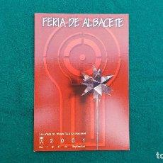 Postales: POSTAL FERIA DE ALBACETE DE 2001. Lote 289843478