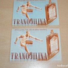 Postales: 2 POSTALES TRANQUILINA ALIVIA Y VENCE TODA CLASE DE DOLORES REUMÁTICOS AÑOS 50 INSTITUTO ROCASOLANO. Lote 290036628