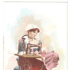 Postales: PUBLICIDAD DE THE SINGER MANUFACTURING. ITALIA (NÁPOLES). Lote 290966018