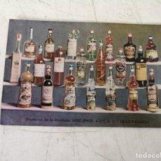 Cartoline: ANTIGUA POSTAL CATÁLOGO PUBLICIDAD DE BEBIDAS, HNOS SANZ, GRAO, VALENCIA. Lote 292393028