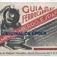 Cartoline: (PS-66496)POSTAL GUIA DE FERROCARRILES - CAMINOS DE HIERRO DE ESPAÑA - GREMI DE VIATJANTS I CORREDOR. Lote 293258598