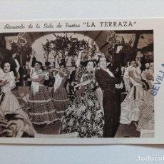 Postales: POSTAL. RECUERDO DE LA SALA DE FIESTAS. LA TERRAZA. SEVILLA. AÑOS 50/60. Lote 295543553