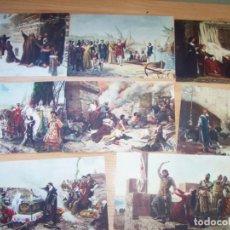 Postales: POSTALES (8) PINTURAS DE LA HISTORIA. INSTITUTO DE FARMACOBIOLOGÍA IFA FARMACEUTICA. Lote 295547138