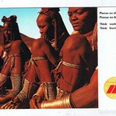 Postales: TARJETA POSTAL PUBLICIDAD IBERIA 1970 AFRICA. PIENSE EN EL MUNDO PIENSE EN IBERIA. Lote 295547623