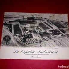 Postales: POSTAL PUBLICITARIA DE LA ESPAÑA INDUSTRIAL. Lote 295704883