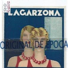 Postales: (PS-66572)POSTAL PUBLICITARIA LAGARZONA-ONDULA EL CABELLO PERFUMANDOLO.CABRA(CORDOBA). Lote 295706588
